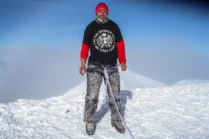 Auf dem Gipfel des Cotopaxi (5897 m)