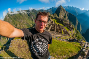 Sonnenschein über Machu Picchu, Peru