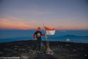 Auf dem 3767 m hohen Semeru auf Java, Indonesien