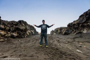 Zwischen den Kontinenten Europa und Amerika auf Island