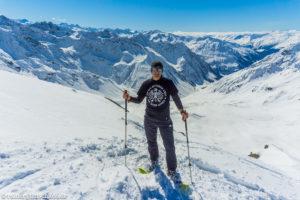 Auf der Sonntagsspitze (2882 m) mit den Schneeschuhen von der Saarbrücker Hütte