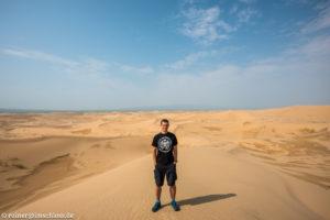 In den Dünen des Khongoryn Els in der Mongolei